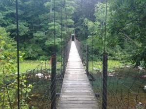 Swinging bridge in Goshen, Virginia