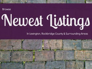 Lexington VA homes new to market